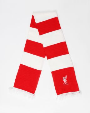 LFC Red and White Bar Scarf