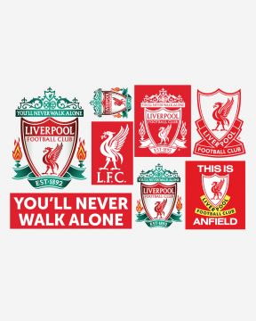LFC stickers muraux du cimier du club