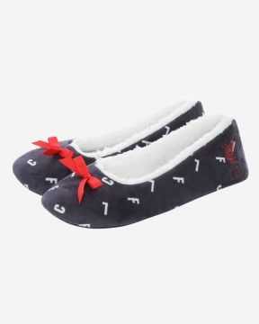 LFC Womens Navy and Cream Slippers