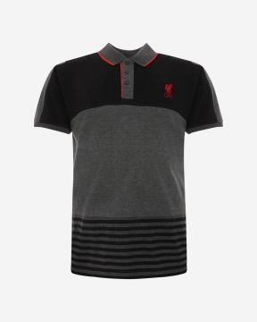 LFC Mens Colour Block Stripe Polo