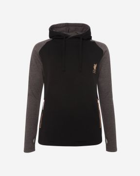 LFC Womens Raglan Black Cross Hoody