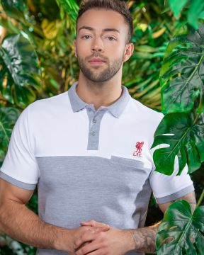 LFC Mens Grey Colour Block Pocket Polo
