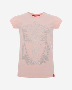 LFC Junior Diamante Pink Crest Tee