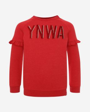 LFC Sweater Junior YNWA Rot Mergel Rundhals