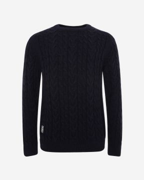LFC Mens Navy Cable Knit Jumper