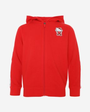 LFC Sweat À Capuche En Rouge À Fermature Éclair De Hello Kitty Enfant