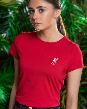 LFC Womens Liverbird Red Tee