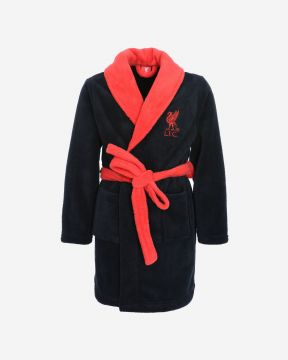 LFC Junior Black Classic Dressing Gown