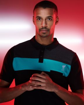 LFC Mens Teal Colour Block Pocket Polo