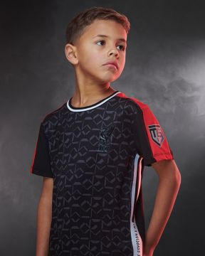 LFC Junior Salah Print Black Sport Tee
