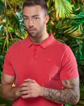 LFC Mens Washed Red Polo