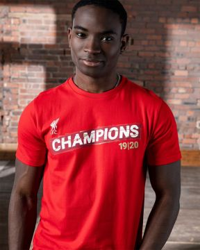 LFC Adults Premier League Champions 19-20 Red Tee