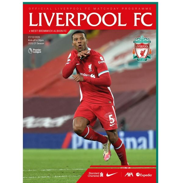 Clothing|Liverpool Matchday Programme 12 - L.F.C Vs. West Bromich Albion