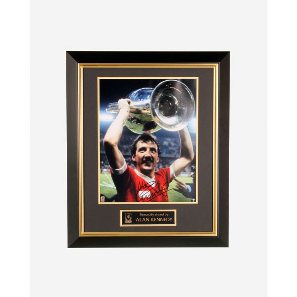 LFC Signed Alan Kennedy Framed Image