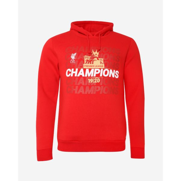 Clothing|Liverpool LFC Adults EPL Champions 19-20 Red Pocket Hoody
