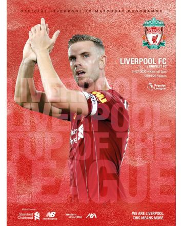 Matchday Programme 25  - L.F.C Vs Burnley  - 11.7.20