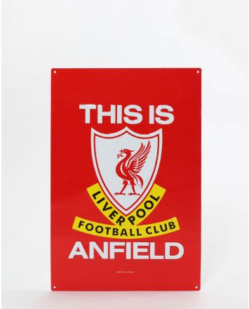 LFC This Is Anfield Metal Sign