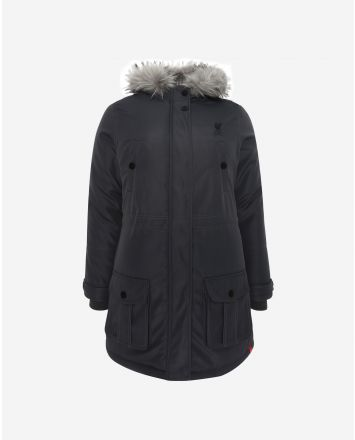 LFC Womens Charcoal Padded Parka Jacket