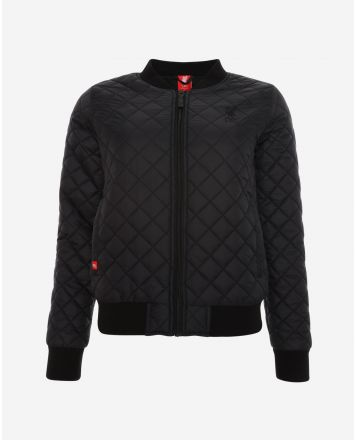 LFC Womens Black Quilted Bomber Jacket