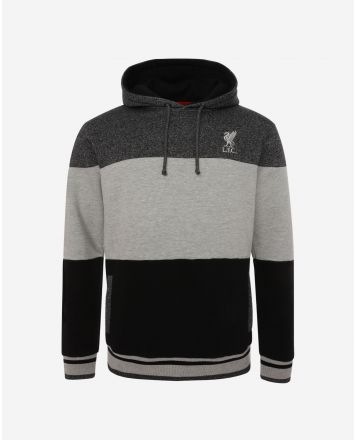 LFC Mens Black Colour Block Hoody