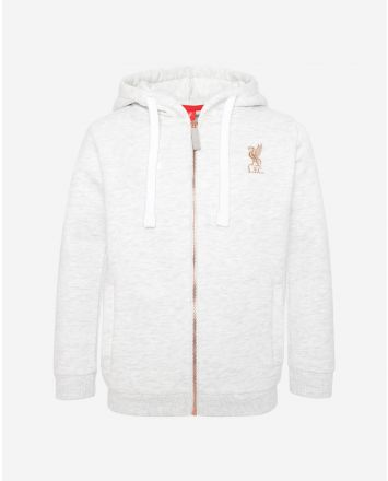 LFC Junior Zip Thru Ice Marl Hoody