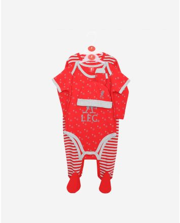 LFC Baby 4-Piece Set Red/Grey