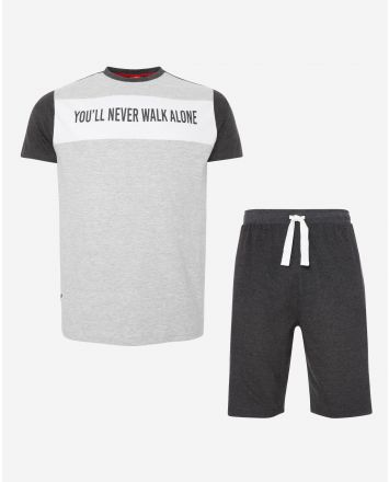 LFC Mens Grey Short PJ Set