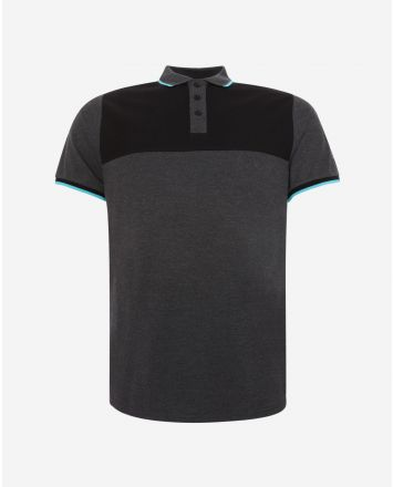 LFC Mens Neon Panel Grey Polo