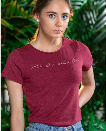 LFC Womens Walk On Red Marl Tee