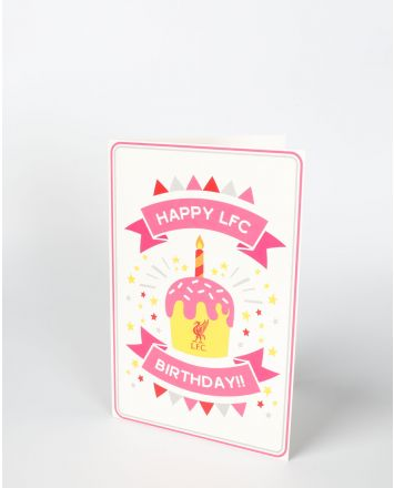 LFC Pink Birthday Card