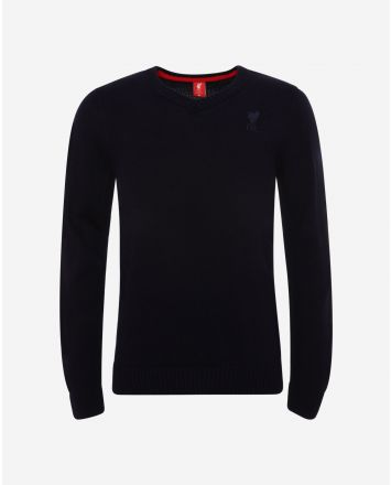 LFC Mens Navy Acrylic V-Neck Knit Jumper