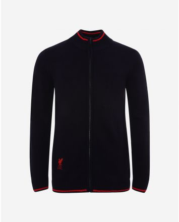 LFC Mens Navy Acrylic Funnel Neck