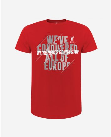 LFC Adults We're Never Gonna Stop Red Tee