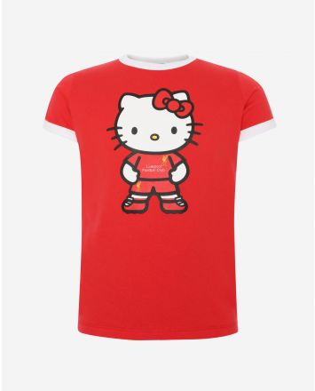 LFC 大童Hello Kitty Ringer 红色T恤