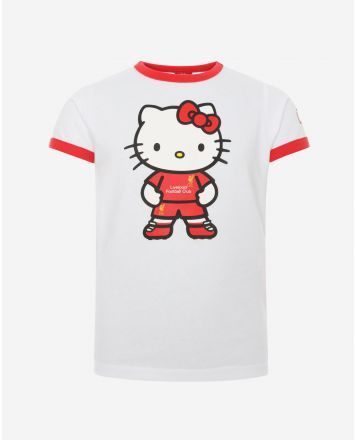 LFC Junior Hello Kitty Ringer Tee White