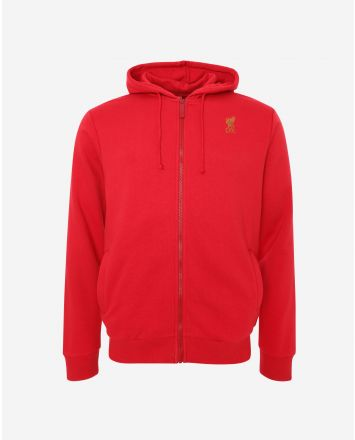 LFC Mens Red Zip Through Hoody