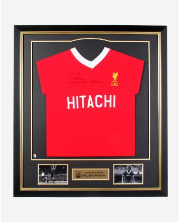 LFC Thompson Hitachi Signed Framed Shirt