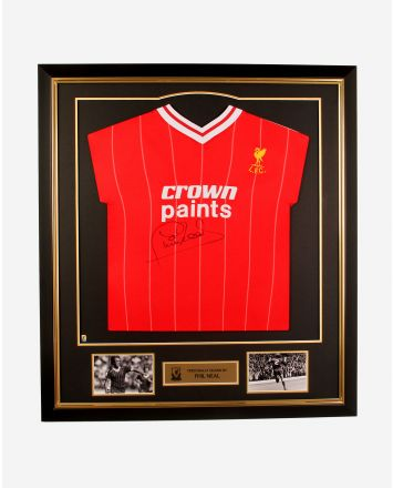 LFC Signed Neal '82 Framed Shirt