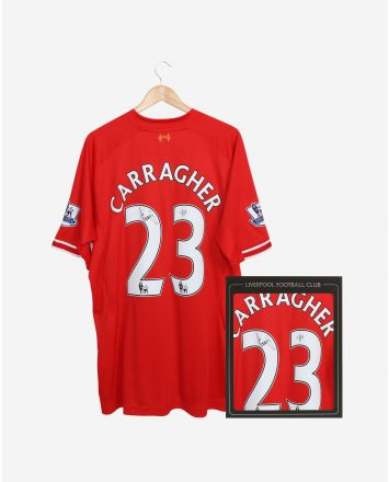 LFC '23' Carragher 13-14 Signed Boxed Shirt
