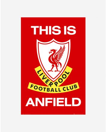 Liverpool FC Red Football This is Anfield Poster LFC Official