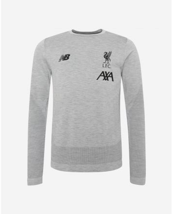 LFC Mens Grey Marl Long Sleeve Seamless Jersey 19/20