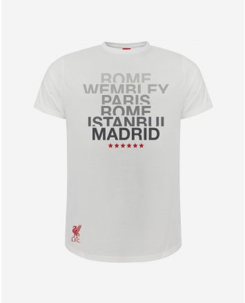 LFC T-Shirt UEFA Champions League 6 Orte Junior