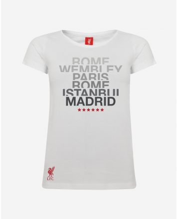 LFC T-Shirt UEFA Champions League 6 Orte Frauen
