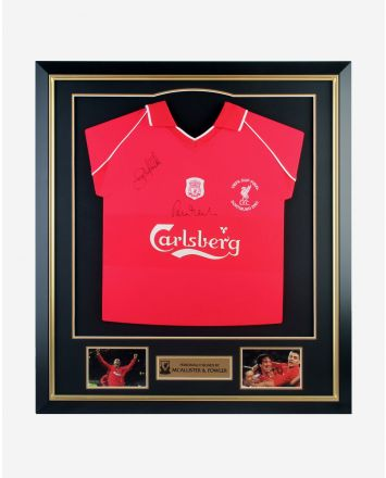 LFC Fowler and McAllister Signed Framed Shirt