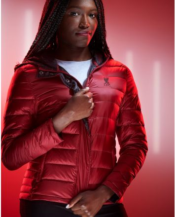 LFC Womens Red Down-filled Jacket