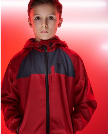 LFC Junior Lightweight Hooded Red Jacket