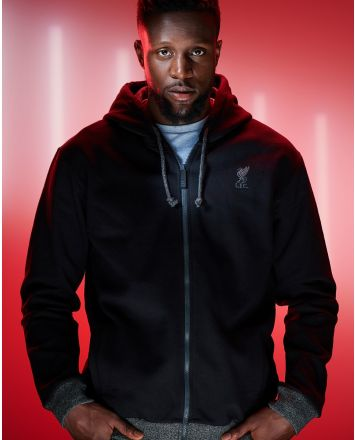 LFC Mens Zip Thru Black Hoody
