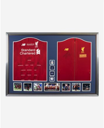 LFC UCL Dual Framed Signed Shirt