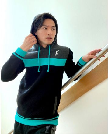 LFC Mens Teal Colour Block Hoody
