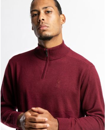 LFC Firma Mens Red ¼ Zip Neck Sweater